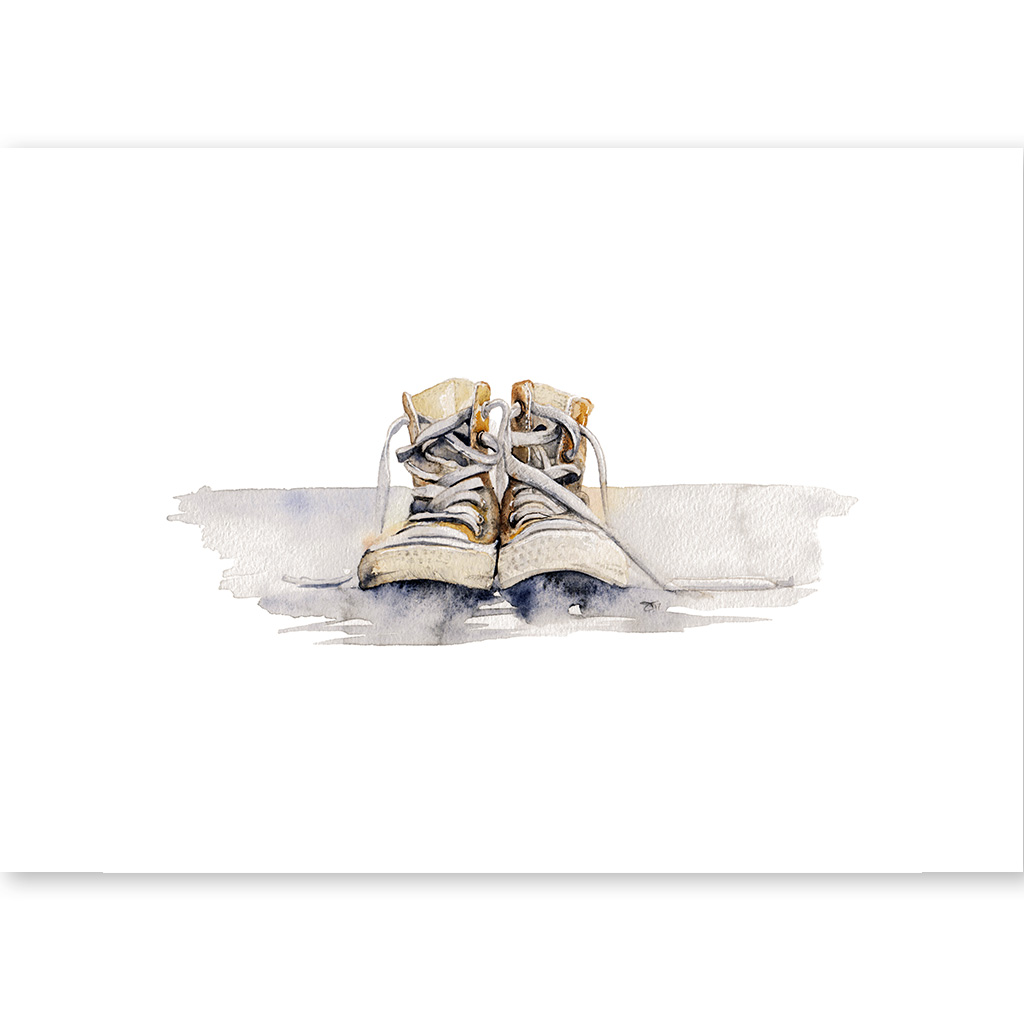 watercolorpainting old converse